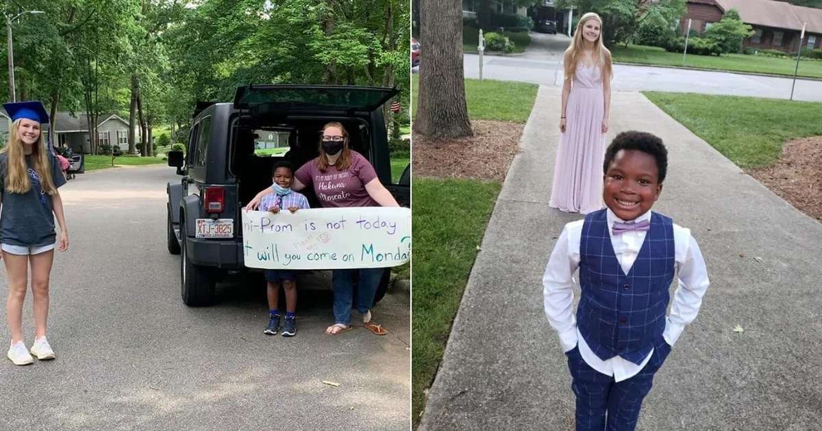 "We Cannot Get Over the ""Mini Prom"" a 7-Year-Old Threw For the High Schooler Who Babysits Him"
