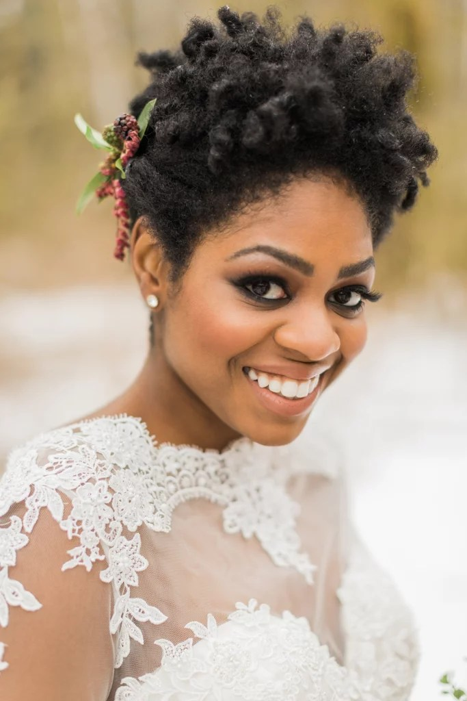 Pinned Back Natural Beauty Bridal Hairstyle Inspiration For
