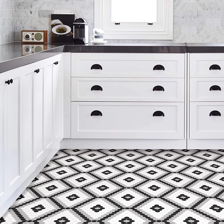 using peel and stick floor tiles