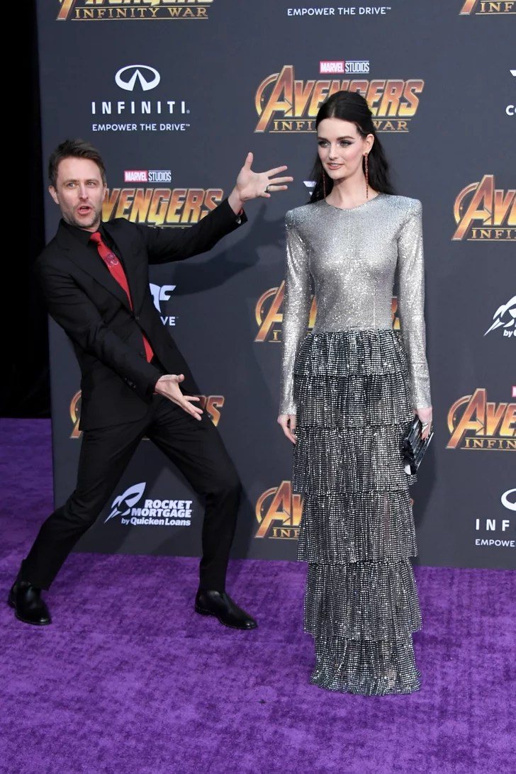 Pictured Chris Hardwick and Lydia Hearst  Celebrities at
