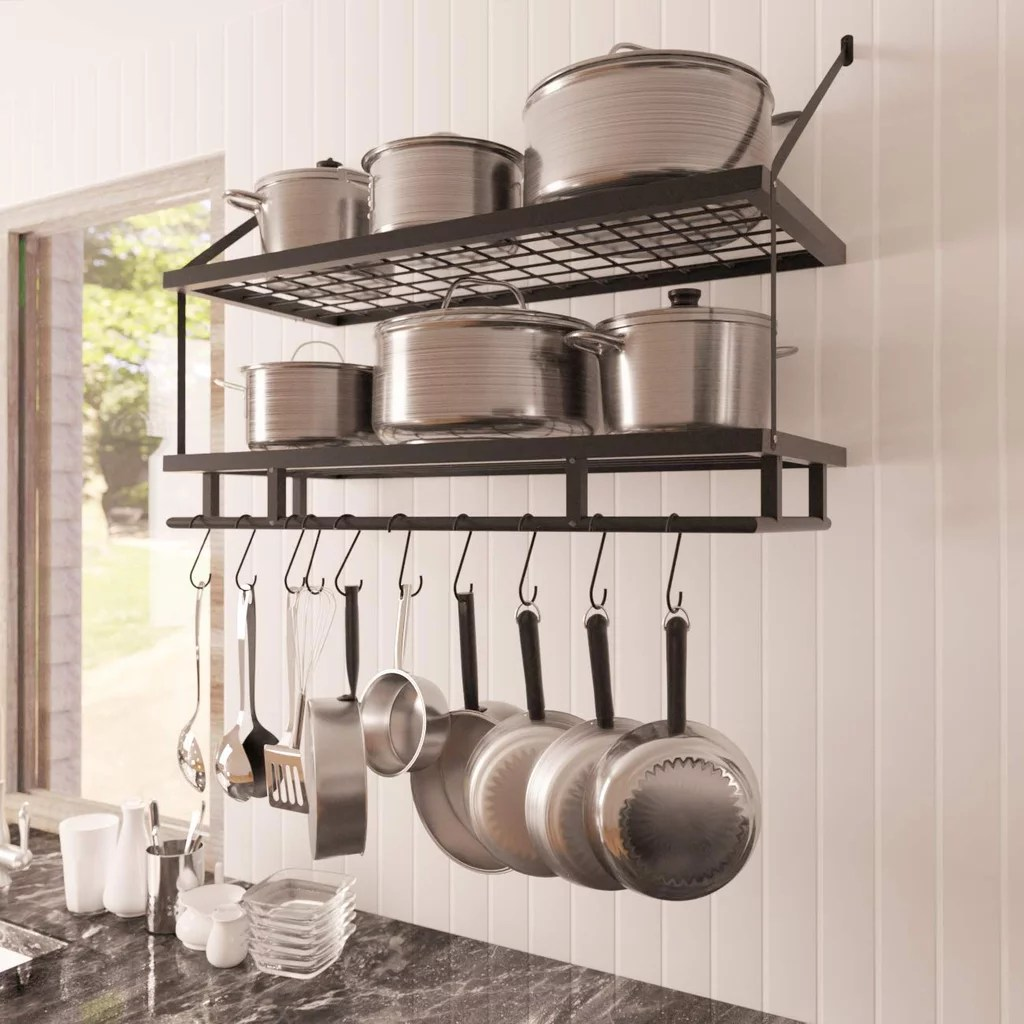 KES Kitchen Pan Pot Rack Wall  Kitchen Products For Small