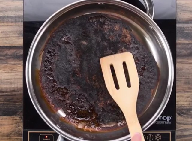 Image result for scrubbing burnt pot
