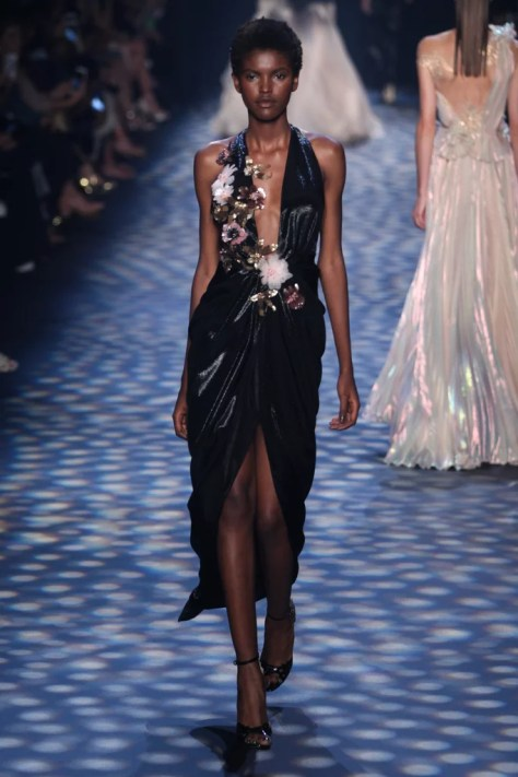 A model walked the runway wearing the Marchesa look at NYFW on Sept. 14.