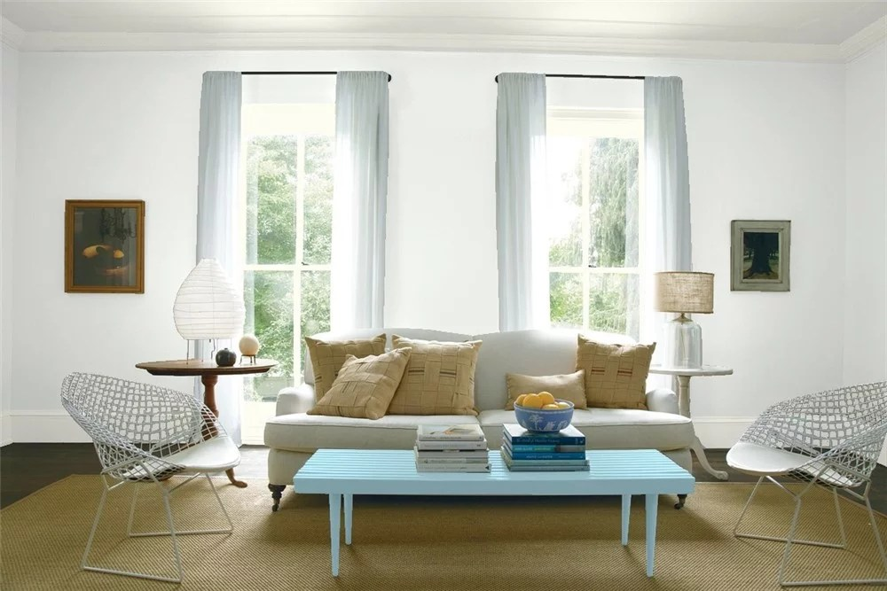 living room paint colors 2019 red curtains benjamin moore decorator's white   best color ...
