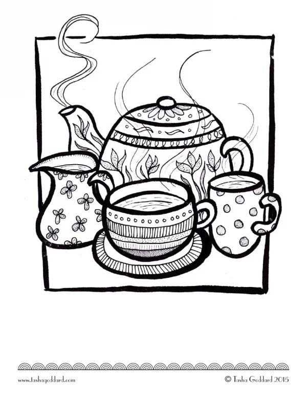 teacups  free coloring book printables  popsugar smart