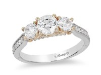 Disney Cinderella Diamond Three Stone Engagement Ring ...