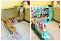 DIY Cardboard Play Kitchen For Kids | POPSUGAR Moms
