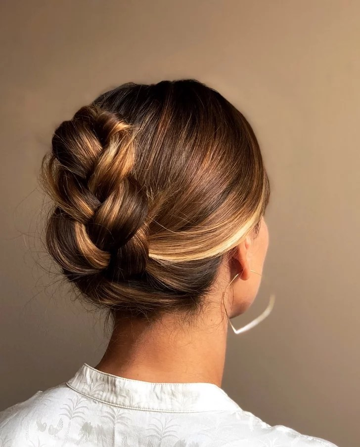Easy French Braid Ponytail Tuck How To Tutorial Photos