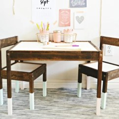 Ikea Kids Table And Chairs Modern Wicker Chair A Rustic Elegant Latt Set Makeover Popsugar Home