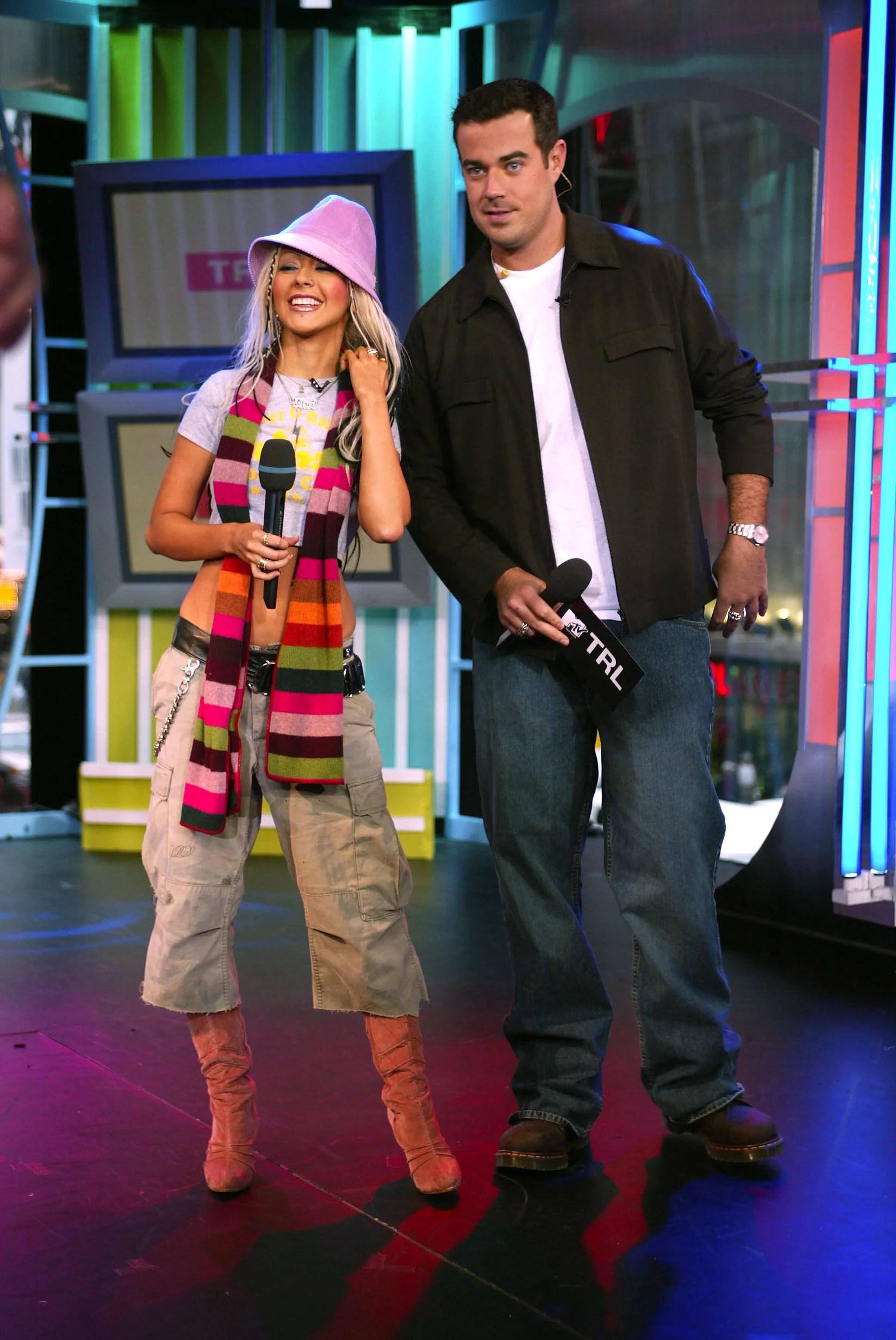 Carson Daly, Christina Aguilera: 'Vanity Fair' Reporter