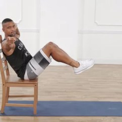 Chair Exercises For Abs Genuine Leather With Shaun T Popsugar Fitness