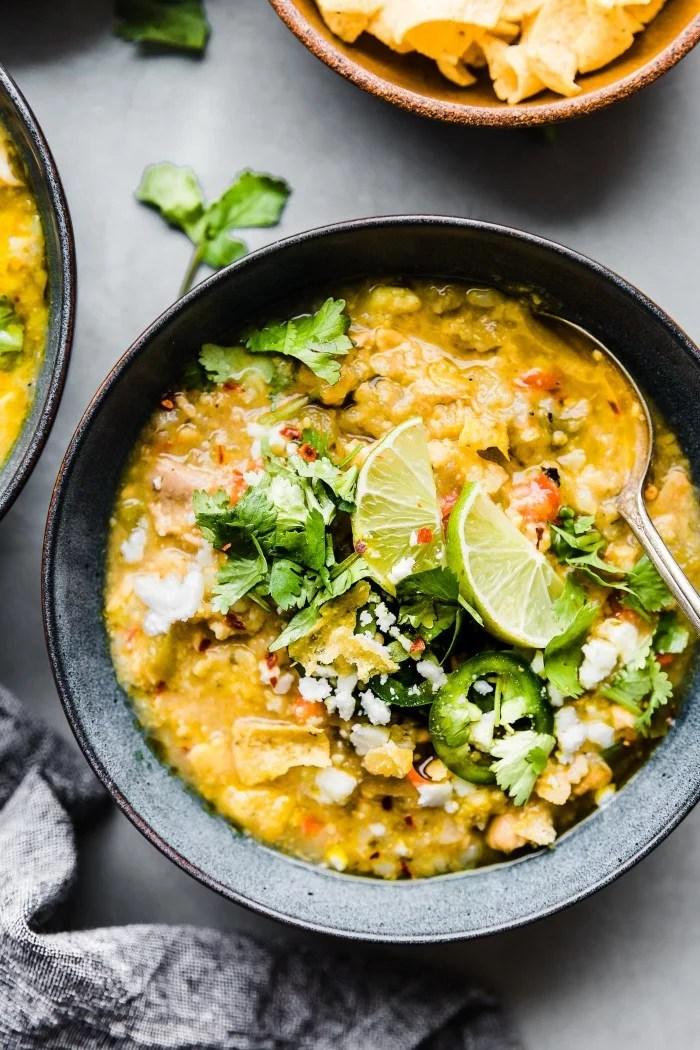 Instant Pot Tortilla Chicken Verde Chili | Best Healthy ...