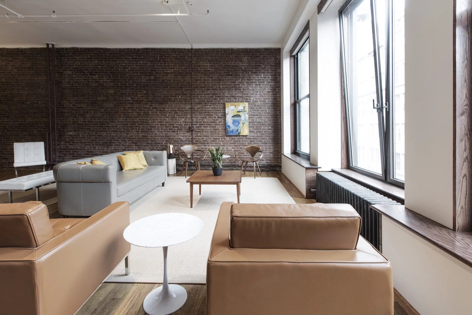 Brick Accent Wall These Modern Living Room Designs Will