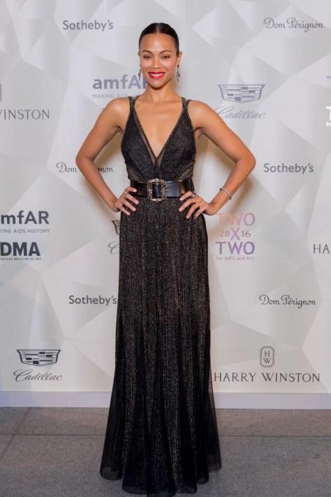 Zoe Saldana Wearing Elie Saab