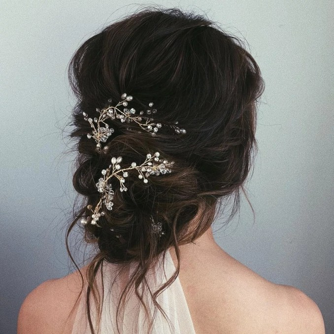messy bun wedding hair | popsugar beauty