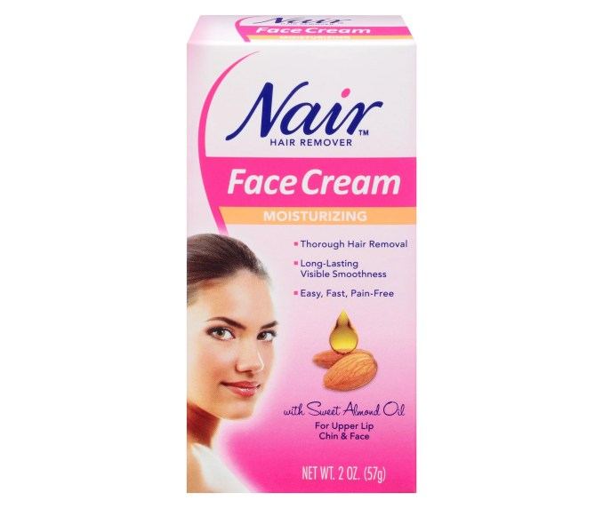 should you nair your face? | popsugar beauty