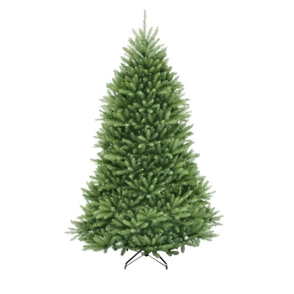 12 Ft. Dunhill Fir Artificial Christmas Tree With 1500 Clear Lights Home Depot Trees