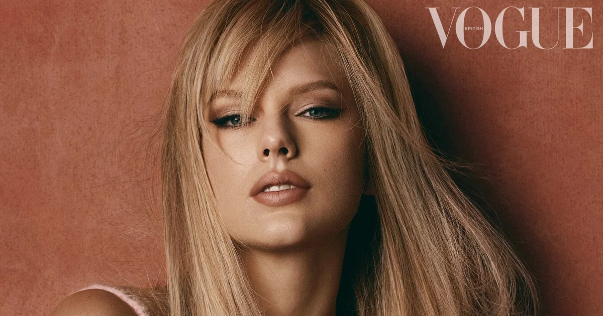 Taylor Swift is the cover star of British Vogue's January issue, and we couldn't help but notice the subtle change to her bangs, which — along with her