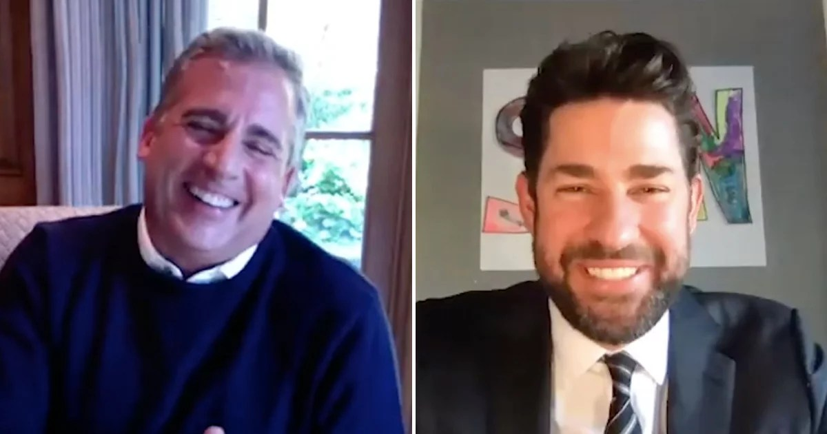 John Krasinski Wants to Share Good News With the World, So He Reached Out to Steve Carell