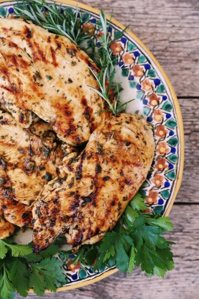 Lemon Herb Grilled Chicken | Mediterranean Diet Recipes ...