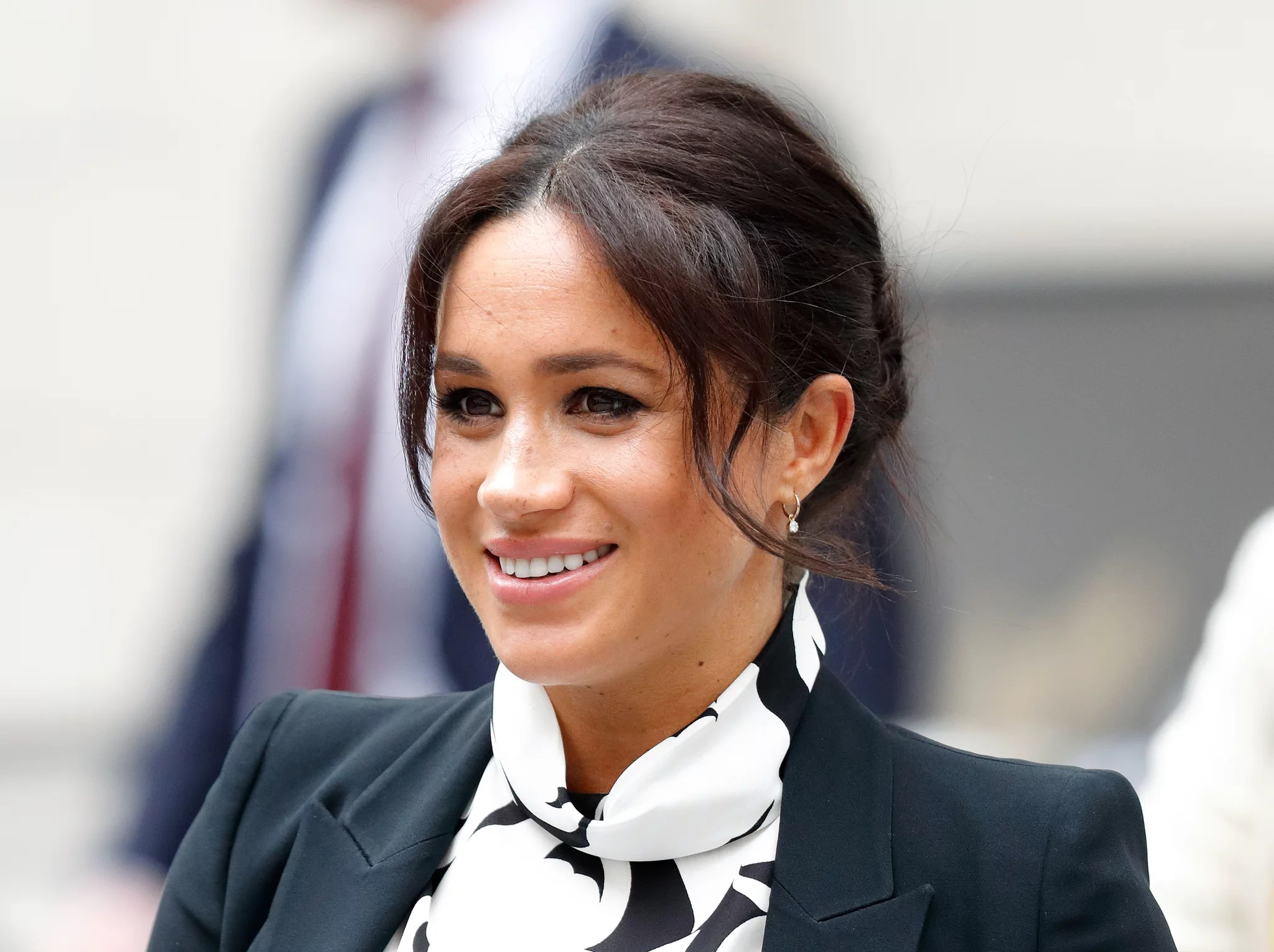 LONDON, UNITED KINGDOM - MARCH 08: (EMBARGOED FOR PUBLICATION IN UK NEWSPAPERS UNTIL 24 HOURS AFTER CREATE DATE AND TIME) Meghan, Duchess of Sussex attends a panel discussion, convened by The Queen's Commonwealth Trust, to mark International Women's Day at King's College London on March 8, 2019 in London, England. It was announced today that The Duchess of Sussex has become Vice-President of The Queen's Commonwealth Trust, of which The Queen is Patron and The Duke of Sussex is President. (Photo by Max Mumby/Indigo/Getty Images)