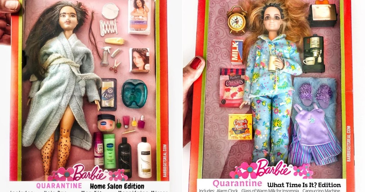A Grandma Made Social-Distancing-Themed Barbies, and Her Attention to Detail Is Incredible