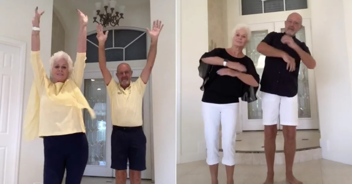 These Grandparents Dress in Matching Outfits to Perform TikTok Dances For Their Grandkids