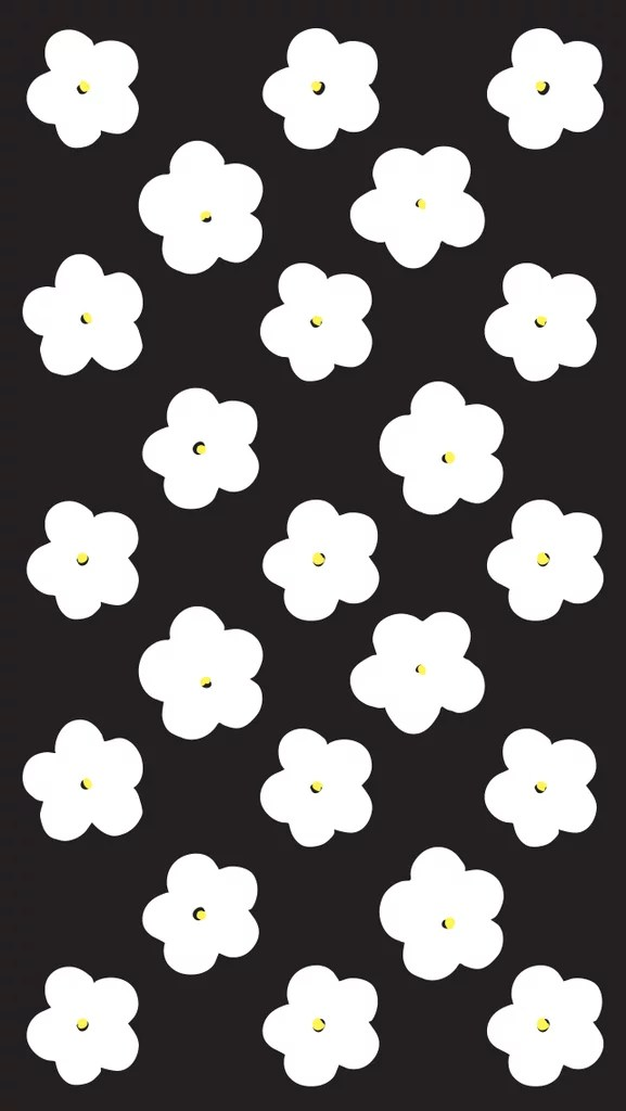 Lrg Iphone 5 Wallpaper Black And White Flowers Cute Iphone 6 Wallpaper