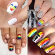 rainbow nail art ideas popsugar