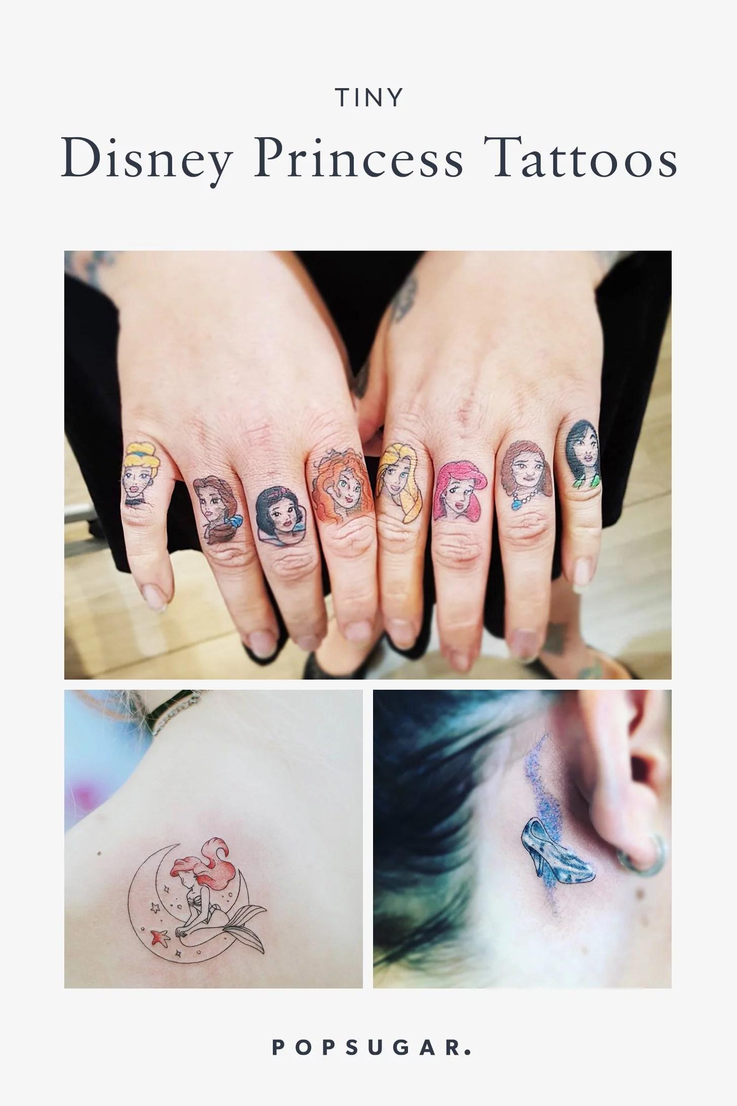 Small Disney Tattoos : small, disney, tattoos, Disney, Princess, Tattoos, POPSUGAR