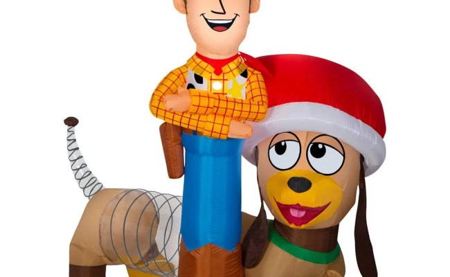 Inflatable Airblown Woody And Slinky Toy Story Woody And