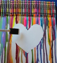 Canvas Crayon Art | Canvas Art Projects For Kids ...