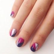 diy geometric nail art design