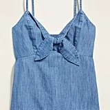 Chambray Tie-Front Cami