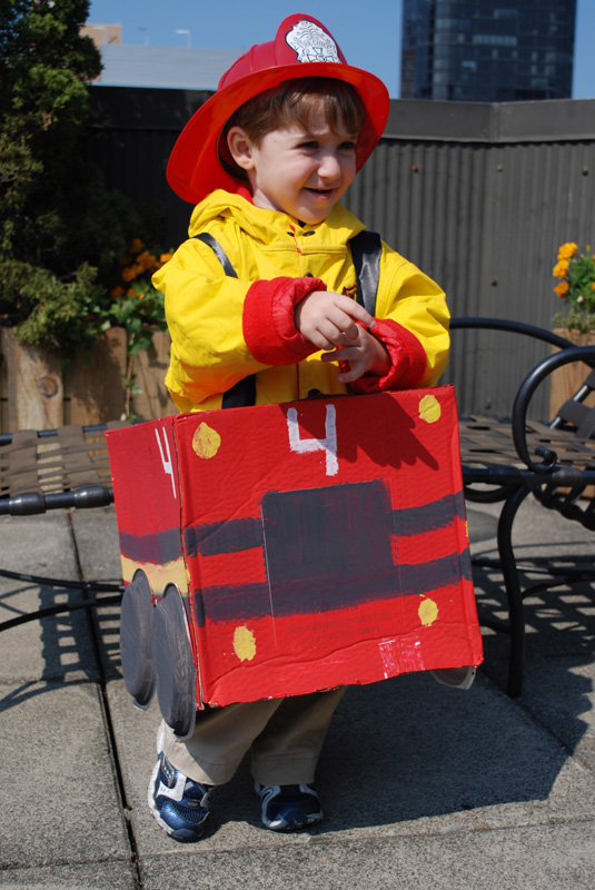 Cardboard Box Fire Truck Halloween Costume  POPSUGAR Moms