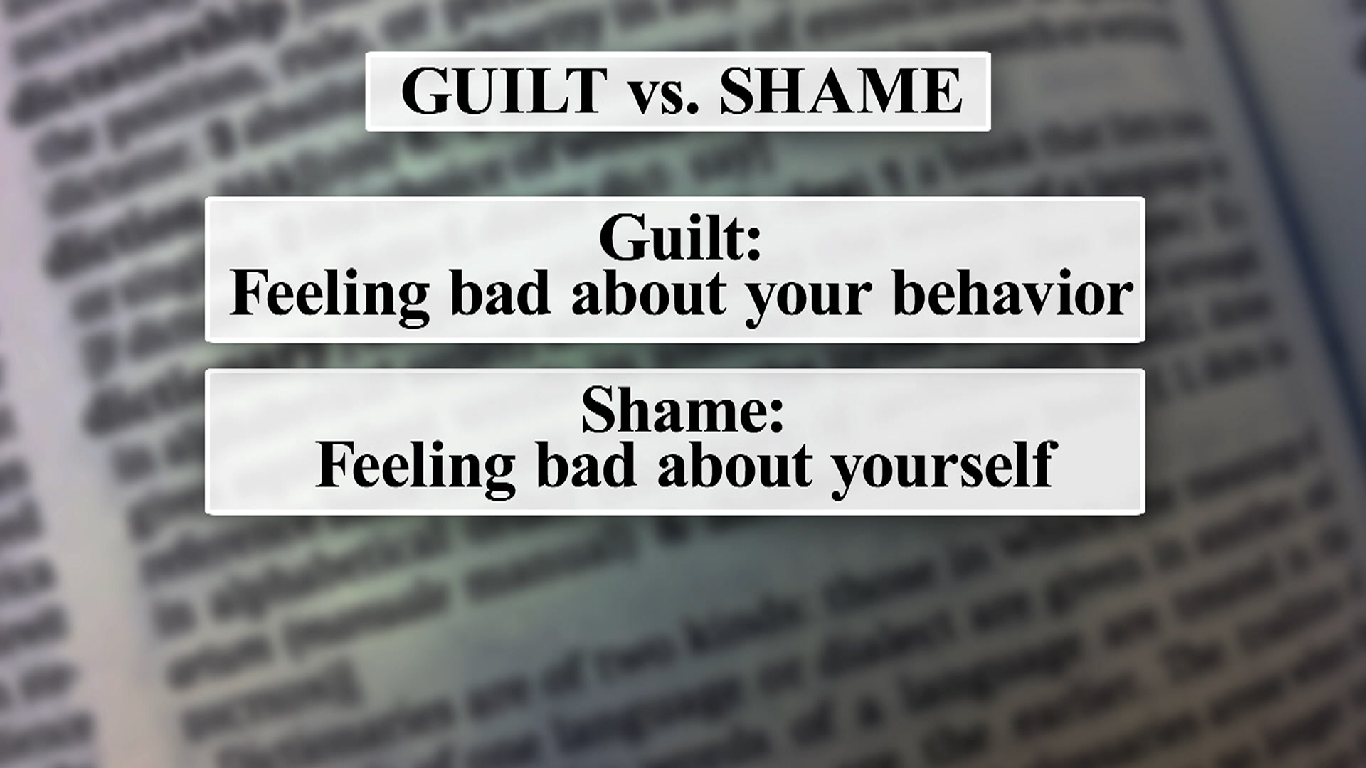 Guilt Vs Shame Wall Street Journal Reports Why One Can