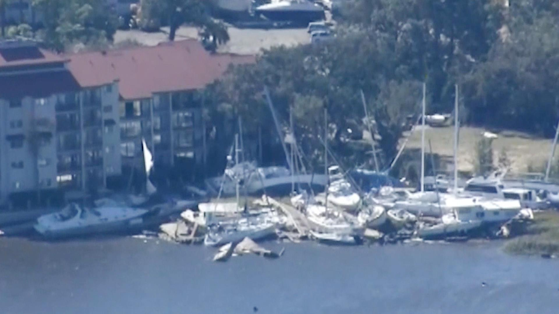 See Storm Damage In Hilton Head From Hurricane Matthew