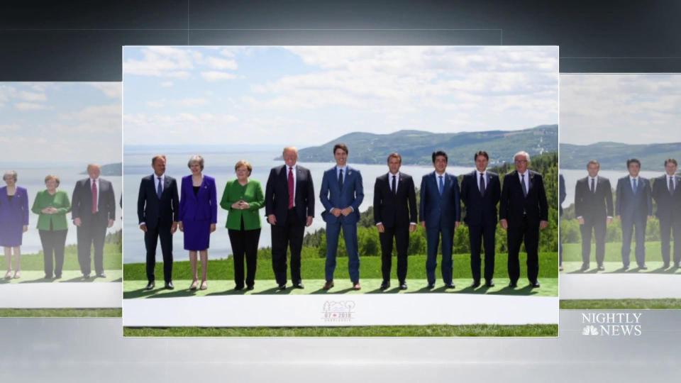 Trump saca a los Estados Unidos de la declaración del G-7 y acusa