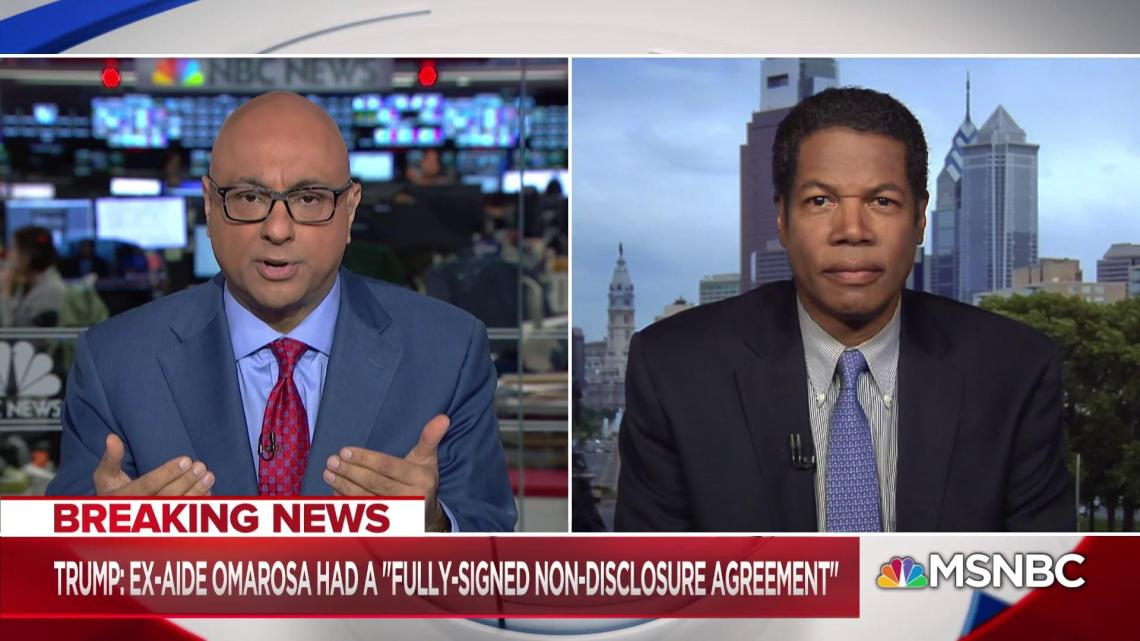 Image result for Joe Watkins bush: Pulitzer-Prize winning Reporter Ashley Parker joins Ali Velshi to talk about Trump's decades-old pattern of using confidentiality agreements, something former White House aide to President George H.W. Bush, Joe Watkins, says is unprecedented in the West Wing. Aug. 14, 2018