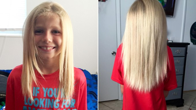Donate highlighted hair for cancer patients hairsstyles florida boy grows out hair to donate child in need today com pmusecretfo Image collections