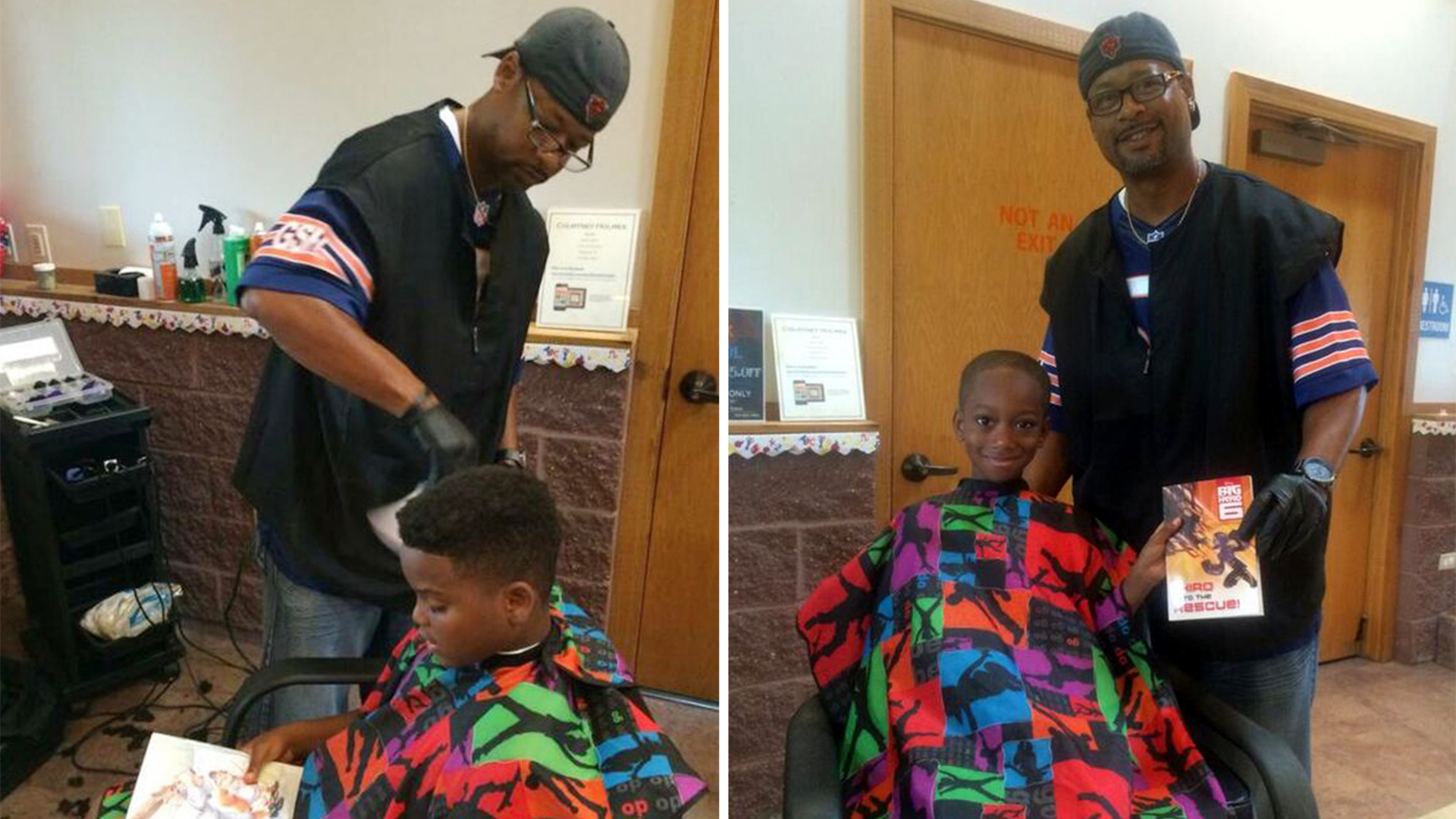 Meet Courtney Holmes the barber who gave kids free