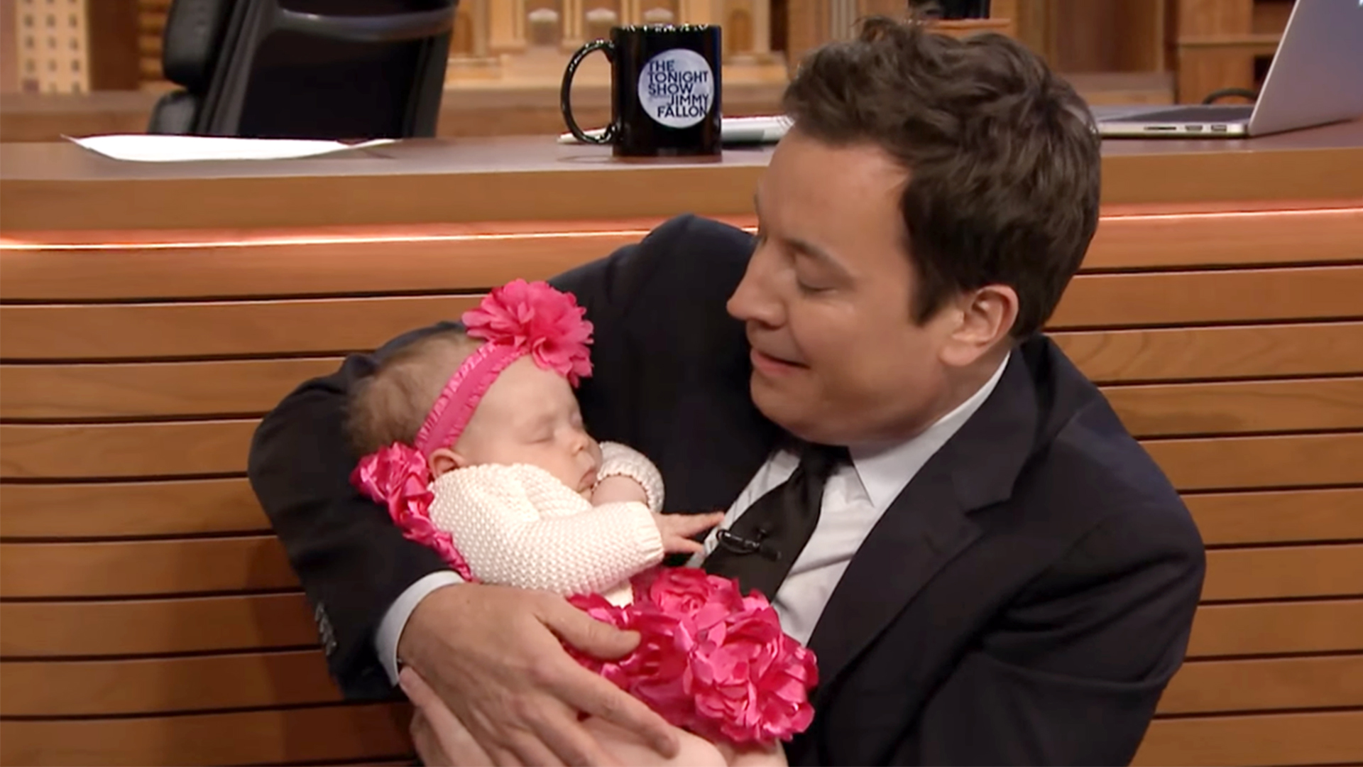 Ice Ts Sleeping Baby Chanel Turns Jimmy Fallon Into A