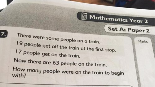 small resolution of Math problem meant for 7-year-olds puzzles outraged parents