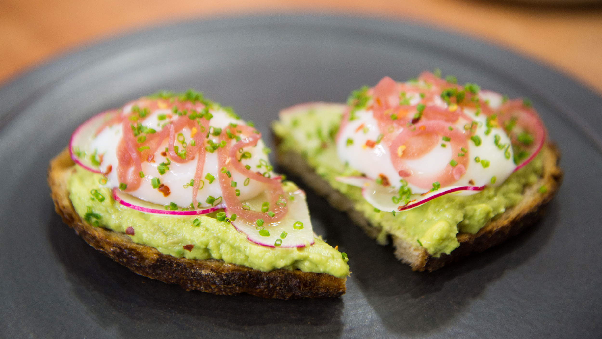 avocado toast with poached
