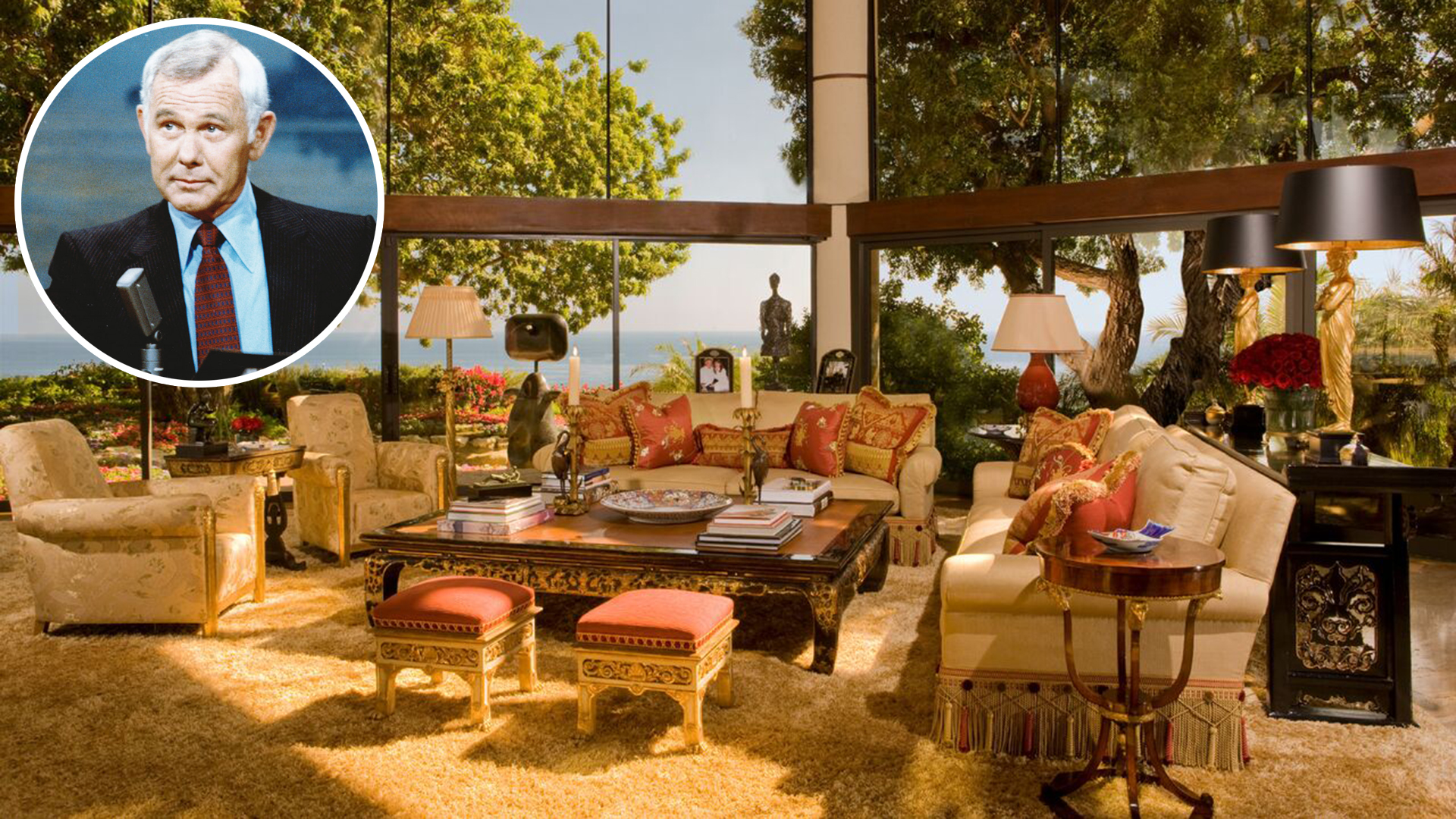 Johnny Carsons Malibu estate is for sale  see inside