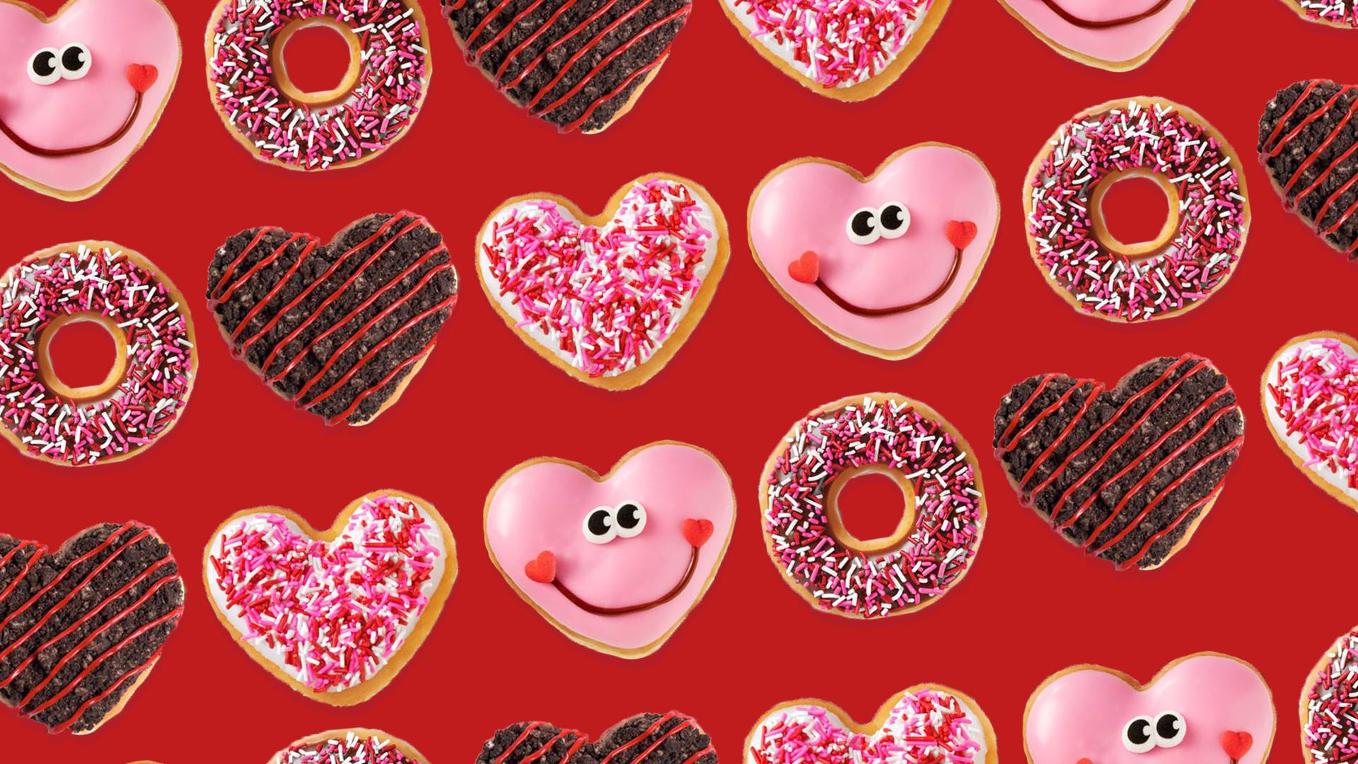 Dominoes Falling Wallpaper People Are Falling For Krispy Kreme S New Heart Shaped