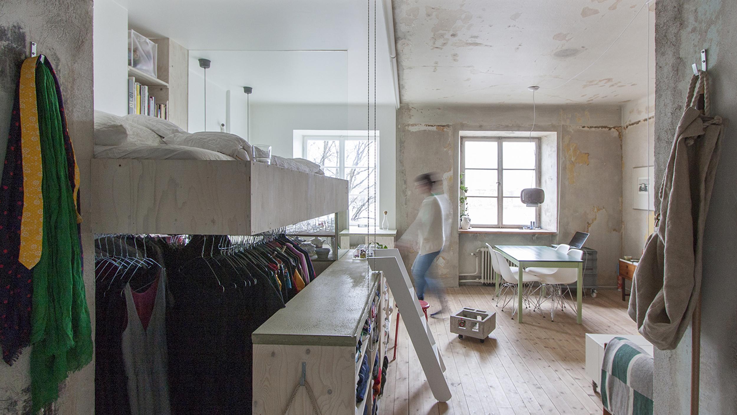 Beforeandafter pics Storage room transforms into studio