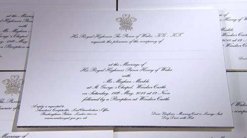 Image result for prince harry wedding invitation