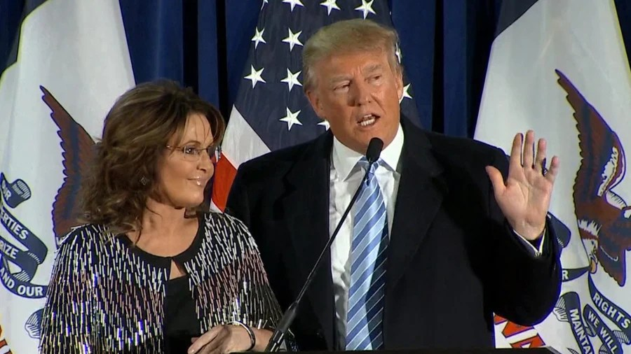Image result for sarah palin with trump