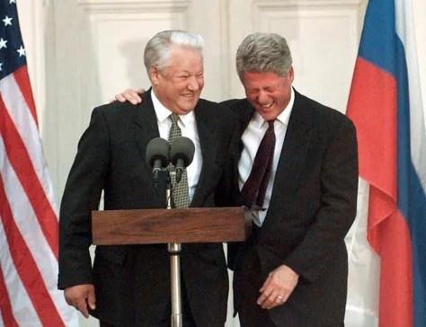 Image result for bill clinton boris yeltsin
